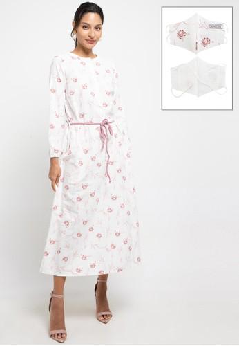 Expand white and pink Enzi Dresses 9375BAA783E44FGS_1