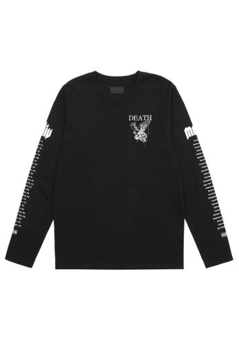 MUSIUM DIV black Logo-printed sweatshirt 77A90AAA91AEB6GS_1
