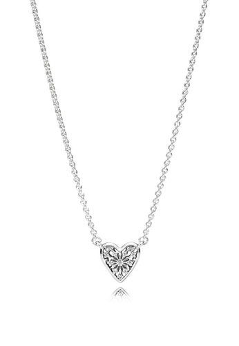 ae8843d16 Buy Pandora Ice Crystal Heart Silver Necklace Online on ZALORA Singapore