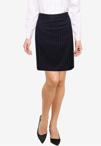 G2000 navy Coolmax Double Stripe H-Shape Suit Skirt 876EDAA8F6DA27GS_1