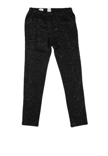GAP black Stretch Jersey Sparkle Leggings 25685KA0838187GS_1