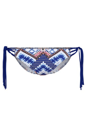 Abercrombie & Fitch blue Knotted Side Tie Tassel Swimwear Bottom AB423US07OXKMY_1