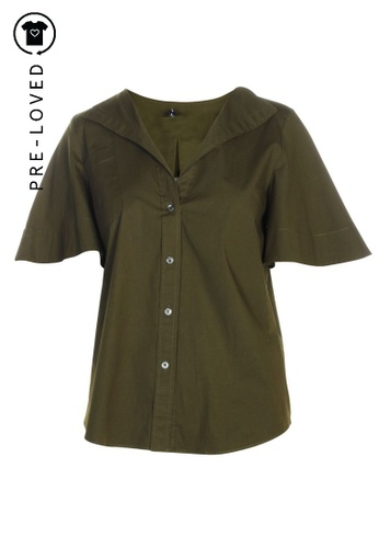 Jil Sander green Pre-Loved jil sander Khaki Shirt 37C51AAA660087GS_1
