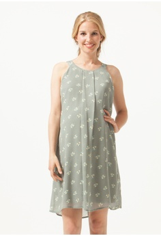 59f3cdca959af Bove by Spring Maternity grey Halter Yvonne Nursing Dress Grey Floral  5D051AA31ABE9FGS_1
