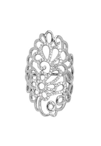 Elfi silver Elfi 925 Sterling Silver Engagement Wedding Fashion Ladies Ring P63 DF74BAC5F1062AGS_1