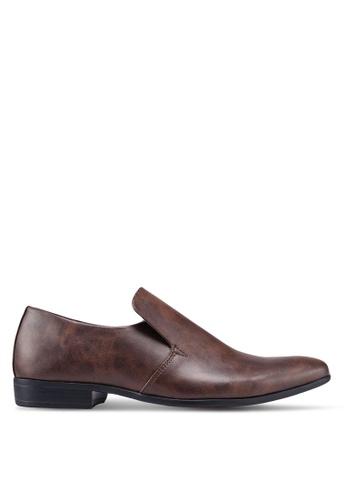 Burton Menswear London brown Tan Raye Slip On Shoes BAC13SH01DC361GS_1