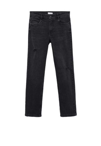 MANGO KIDS grey Slim-Fit Cropped Jeans 16B72KADE06885GS_1