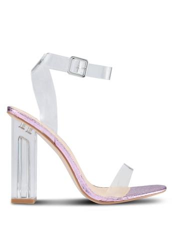 Public Desire pink Alia Strappy Perspex Heels 69E56SH8BDC398GS_1