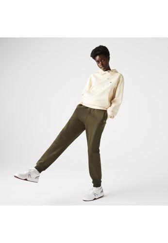 Lacoste green Unisex Organic Cotton Fleece Jogging Pants 6FD43AA11C940CGS_1