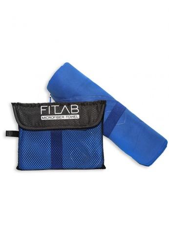 Fitlab blue Microfiber Bath Towel 7AF69HL39932F8GS_1