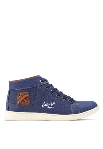 Louis Cuppers blue High Top Sneakers LO977SH0RKC4MY_1