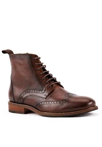 Twenty Eight Shoes 真皮復古英倫短靴618-166 8716DSHD4835B2GS_1