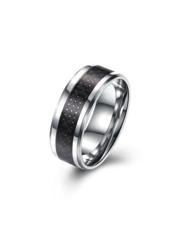 ADORA black Stainless Steel Ring 42262AC54C8FDEGS_1