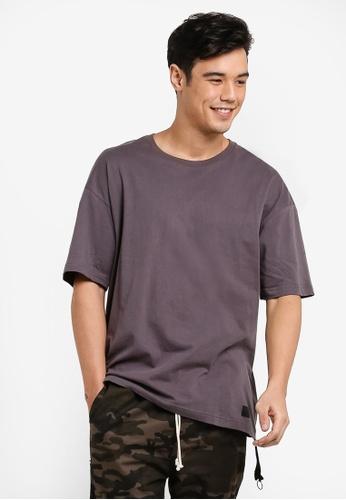 Flesh IMP grey Ryan Oversized Box Cut T-Shirt FL064AA76WZFMY_1