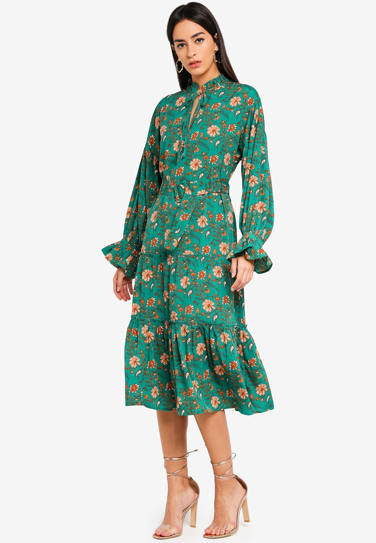 Dress Rodeo Midi Evergreen Moda Vero g0Cwvq