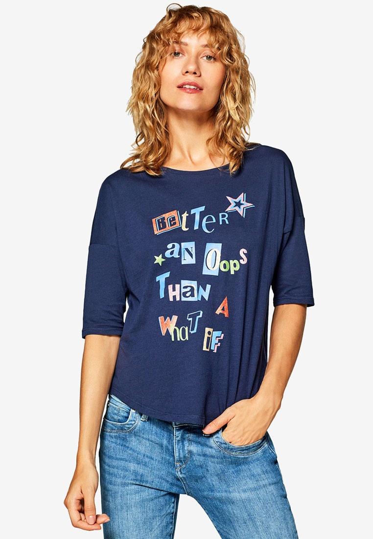 Sleeve Short Navy Shirt T ESPRIT OAw5q