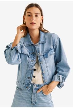 abb1dc61226 Mango blue Vintage Wash Denim Jacket E809DAA5D21720GS 1