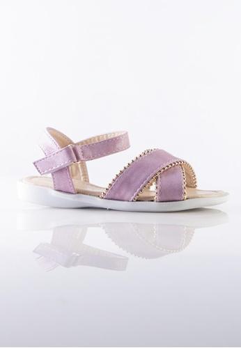 Stilaré pink Kids Mia Pink Studded Sandals 7F387KSCB1767DGS_1