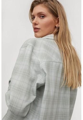 H&M green Cotton shirt 284F2AA374A945GS_1