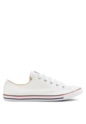 d4148eeadf1e1 Converse white Chuck Taylor All Star Canvas Ox Women s Sneakers  CO302SH11GSUMY 1