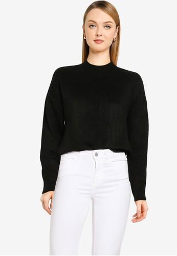 Noisy May black Ella Long Sleeves O-neck Knit Sweater B71A7AA06F01E6GS_1