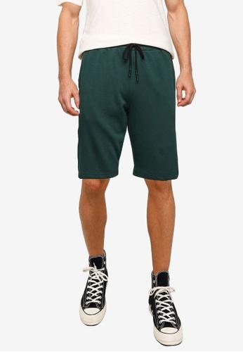 UniqTee green Side Stripe Drawstring Shorts E82AAAAAAF1DC9GS_1