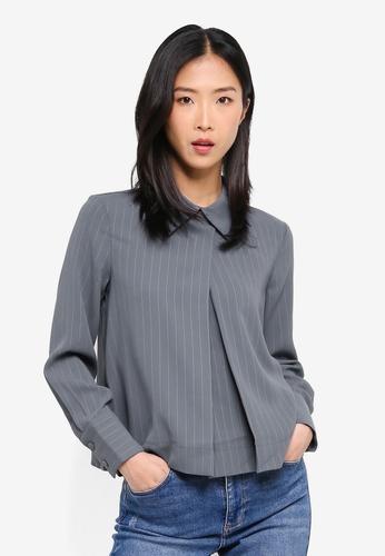 ESPRIT blue Woven Long Sleeve Blouse D3407AAA3980FAGS_1