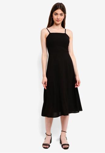 Something Borrowed black Cami Midi Dress 4CBEAAA0C49D0EGS_1