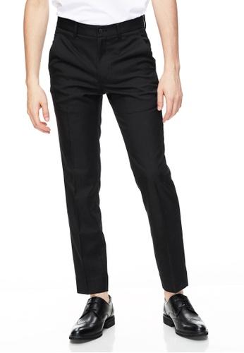 Life8 黑色 Formal Classic Plain Slim Fit Pants-12026-Black CCFF2AA451EFE9GS_1