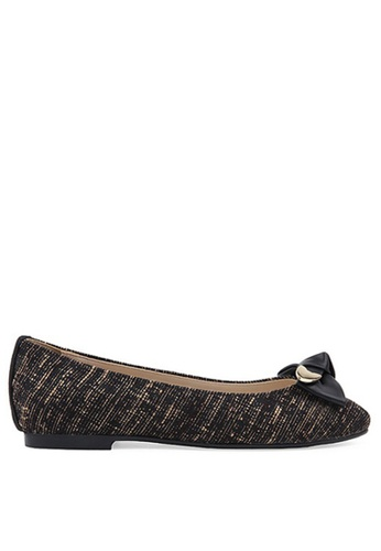 SPUR black Gold Tip Knotted Bow Flats SP642SH19LYIHK_1