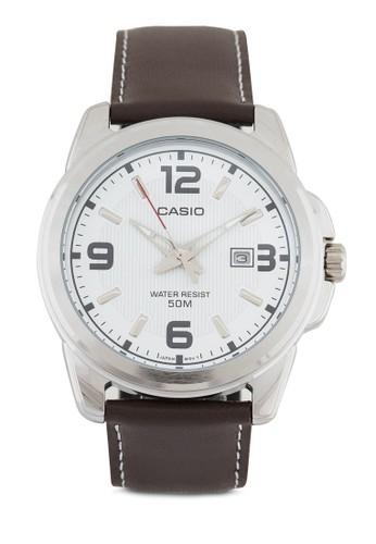 MTP-1314L-7esprit香港分店AVDF 仿皮圓錶, 錶類, 皮革錶帶