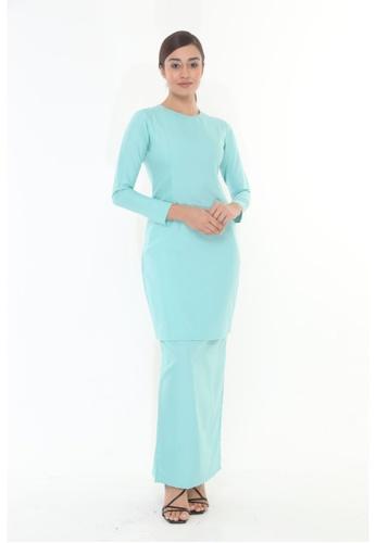 Amar Amran green Baju Kurung Moden Qasandra 23CC2AA9E273FFGS_1