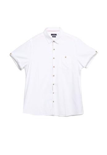 LC Waikiki white Slim Fit Dobby Shirt 4DA78AAFFC284CGS_1