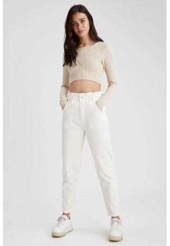 DeFacto white Woman Woven Trouser 00880AAD7EBAACGS_1