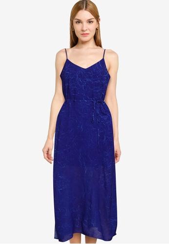French Connection blue CALANDRA CRINKLE SLIP DRESS 1312DAA61323EDGS_1