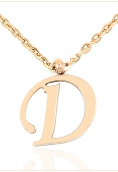 Rose Gold Plated Alphabet Necklace