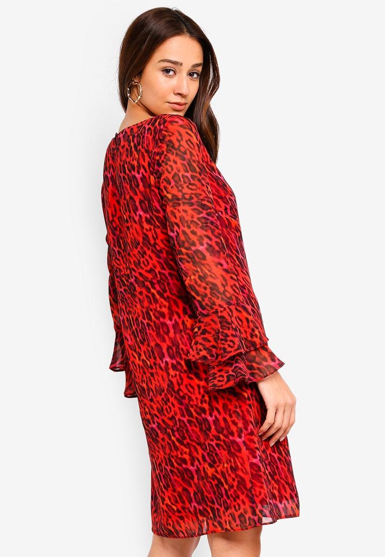 Red Shift Wallis Animal Red Print Dress wOqgOBxz