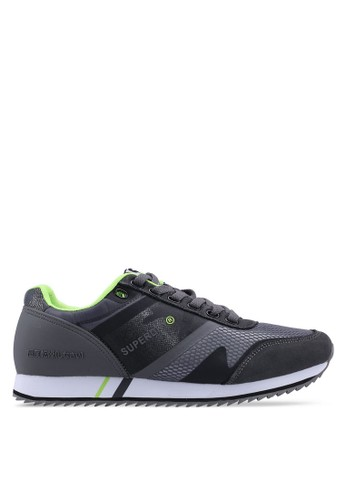 Superdry grey Fero Runner Trainers 888A5SH3EF4013GS_1