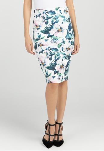 BA&DO green Drea Printed Pencil Skirt 2A8B4AA1684911GS_1