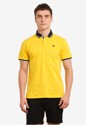 Private Stitch yellow Polo Tees with Getleman Icon Tees PR777AA0S8Q8MY_1