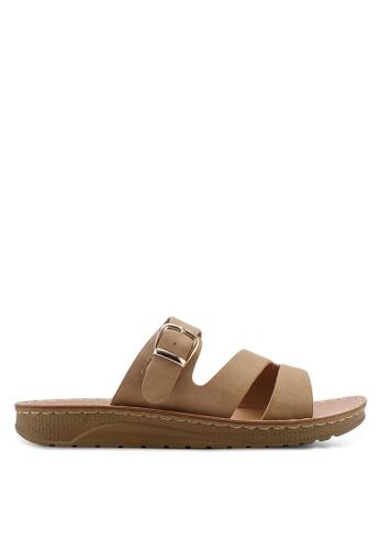 NOVENI 米褐色 Casual Strappy Sandals D98B9SHC2AB24BGS_1