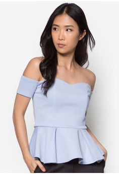 Collection Off Shoulder Peplum Top