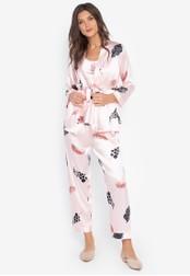 FEMINISM pink Robe Set E8449AA6593A44GS_1
