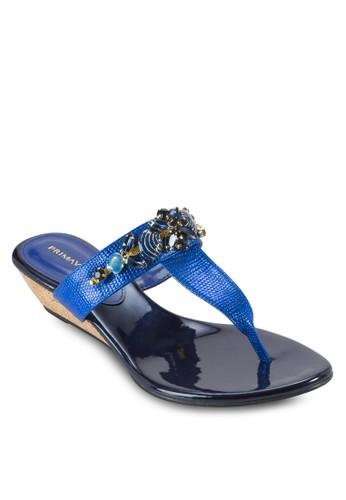 SEALA 閃石T 字帶楔形涼鞋, 女鞋,esprit 香港 鞋