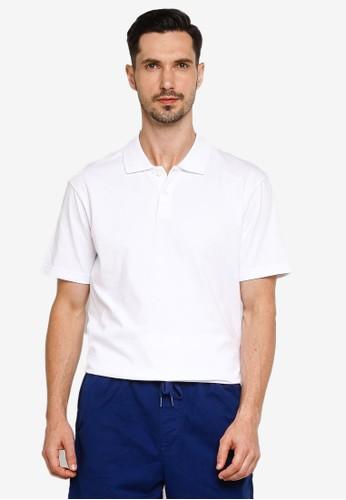 GAP white Short Sleeves Jersey Polo Shirt 7F855AAD3A10CFGS_1