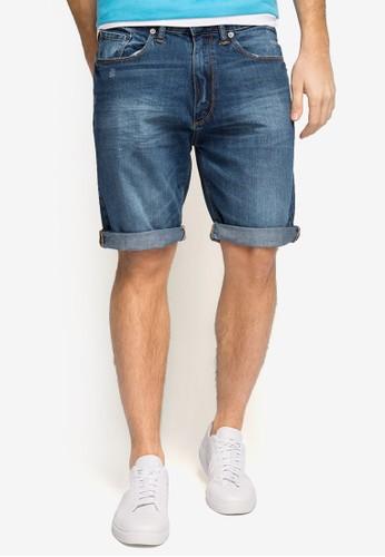 反褶丹寧短褲,zalora 衣服評價 服飾, 短褲