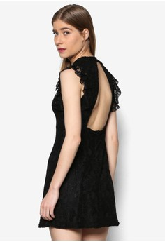 Venus 露背蕾絲連身裙