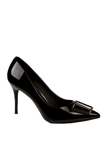 Twenty Eight Shoes 黑色 方形裝飾扣高跟鞋 VL17851 2C1FCSH74CA5B7GS_1