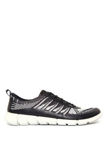 ECCO black and white Intrinsic Mens Sneakers EC876SH81ODIPH_1