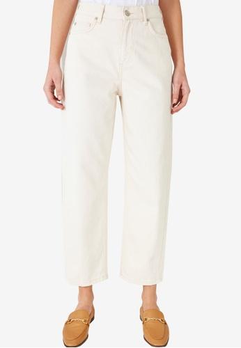 Trendyol 米褐色 High Waist Mom Jeans 79D1DAA48043B5GS_1